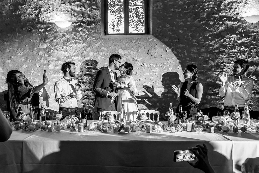 Entrée des mariés au vin d'honneur