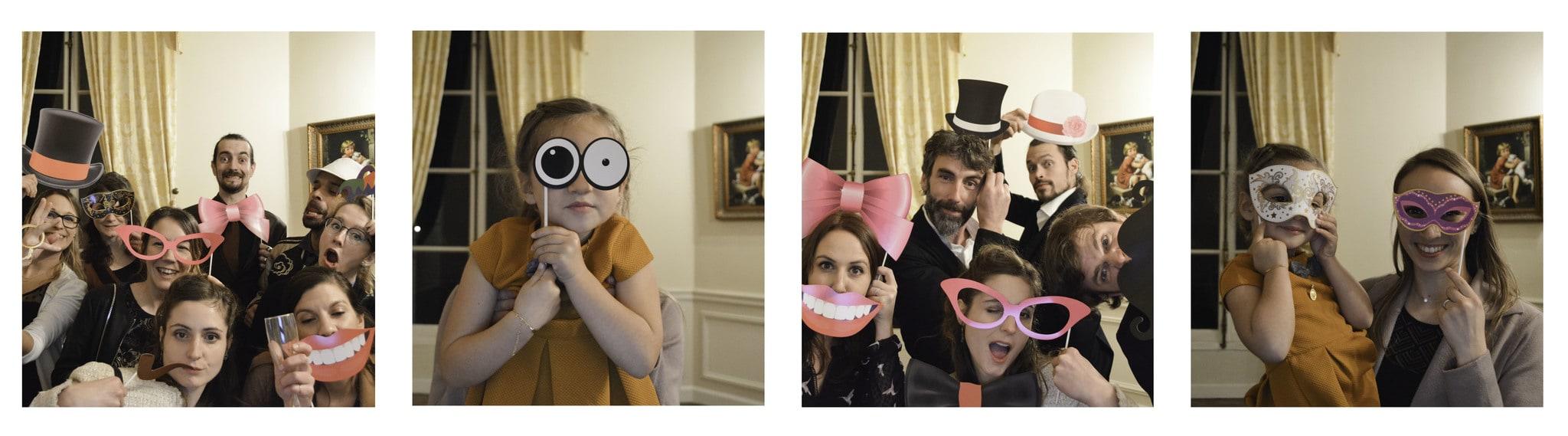 exemple de photo prise par la borne photo en mariage